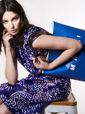 Marni Shopping Tote in Royal Blue