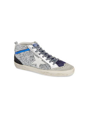 Sneakers Mid Star Silver Glitter w/ White Star