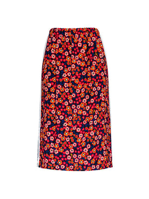 Straight Skirt in Floral print