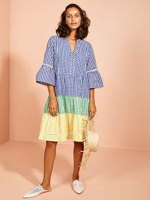 Snake Charming Shift Dress Gingham