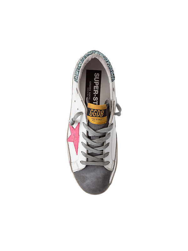 Sneaker Superstar in Fuschia Star Glitter Heel