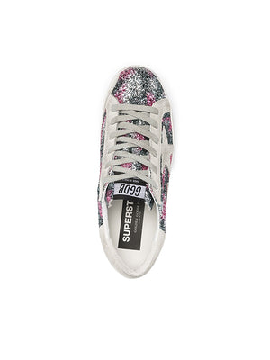 Sneaker Superstar in Leopard Glitter