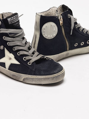 Golden Goose Sneakers Francy Classic in Navy Suede