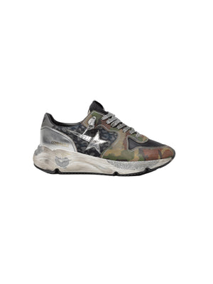 Sneakers Running Sole in Camouflage Denim