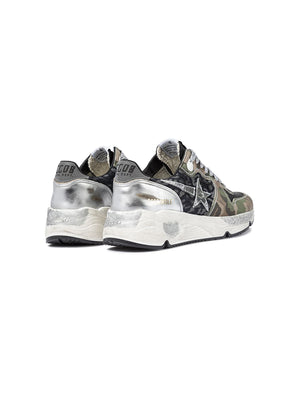 Golden Goose Sneakers Running Sole in Camouflage Denim