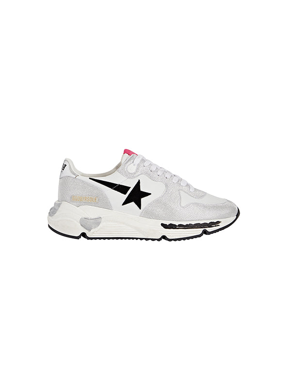 Golden Goose Sneakers Running Sole in Checkered Glitter