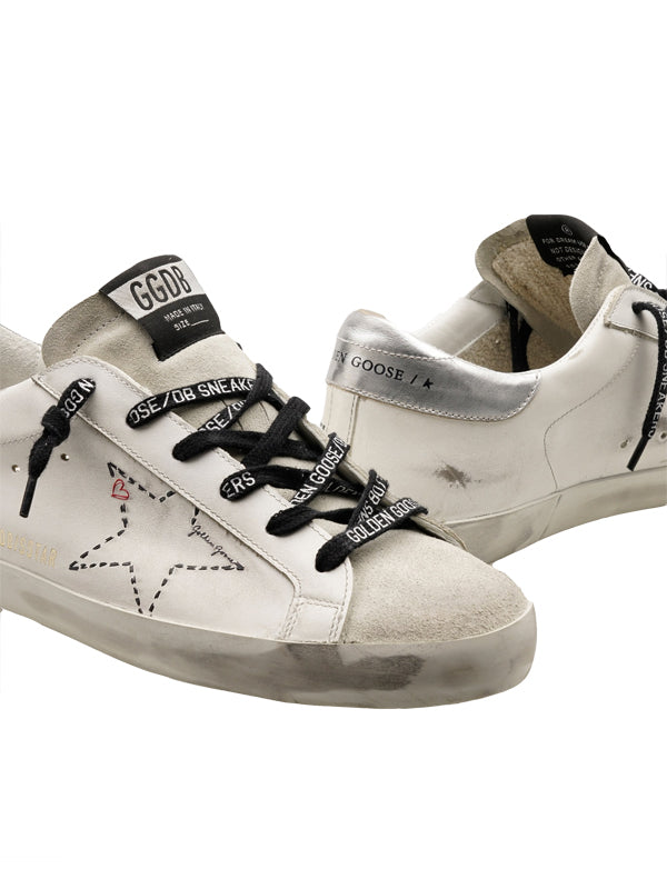 Golden Goose Sneakers Superstar in Dotted/Ice Silver