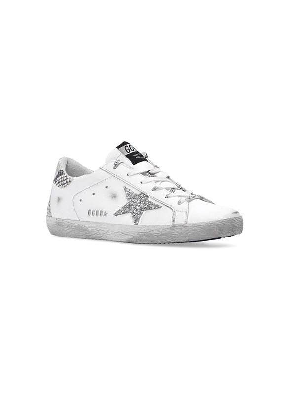 Golden Goose Superstar Glitter Star Python