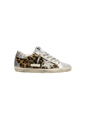 Sneakers Superstar in Leopard Horsy and Glitter Star