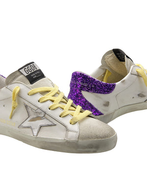 Sneakers Superstar in Purple Glitter