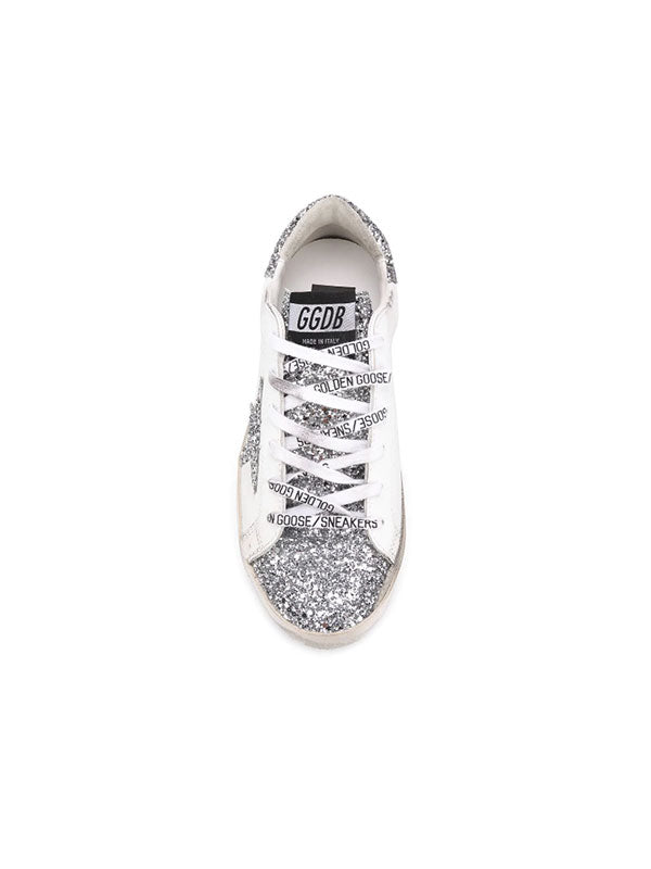 Golden Goose Sneakers Superstar in Silver Glitter