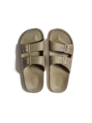 Freedom Moses Solid Slides In Khaki
