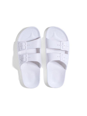 Freedom Moses Solid Slides In White