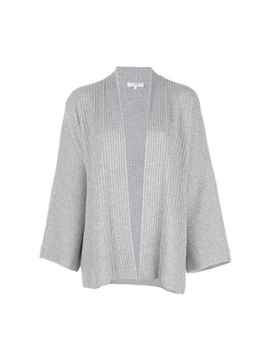 Split Panel Cardigan In Medium Grey