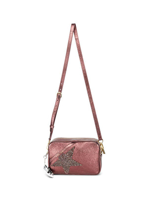 Golden Goose Star Bag in Metallic Aubergine/Swarovski Star