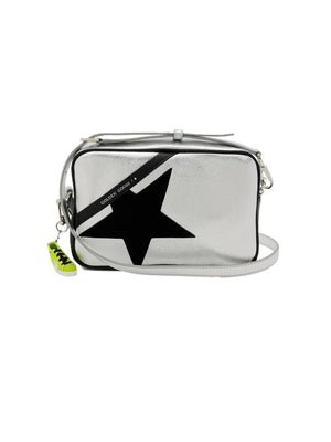 Star Bag in Silver/Black Suede Star