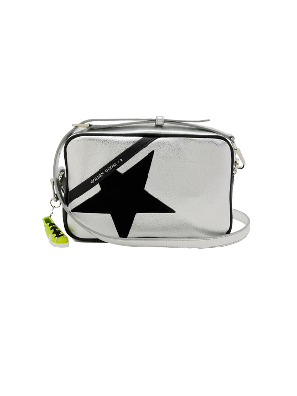 Golden Goose Star Bag in Silver/Black Suede Star