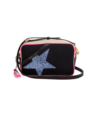 Star Canvas Bag in Neon Trim/Glitter Star