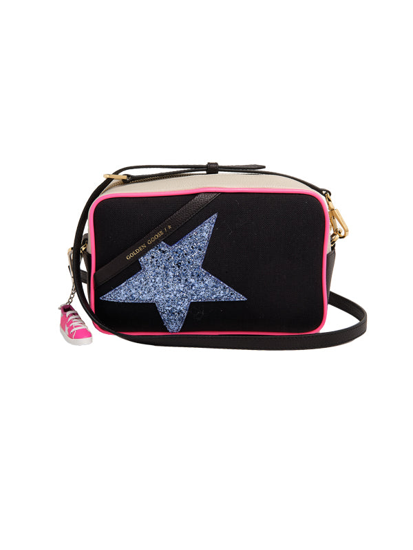 Golden Goose Star Canvas Bag in Neon Trim/Glitter Star