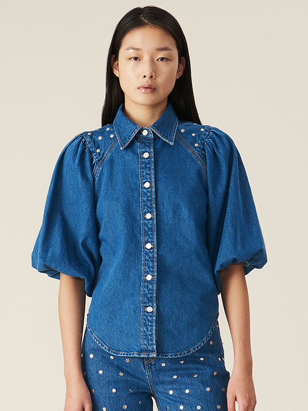 Stud Denim Shirt