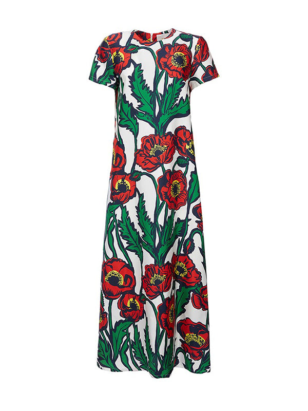 La DoubleJ Swing Dress in Big Blooms