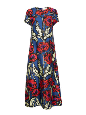 Swing Dress in Big Blooms