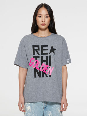 Golden Goose T-Shirt Aira Boyfriend in Rethink Water