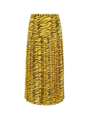 Tina Tiger Skirt in Mustard