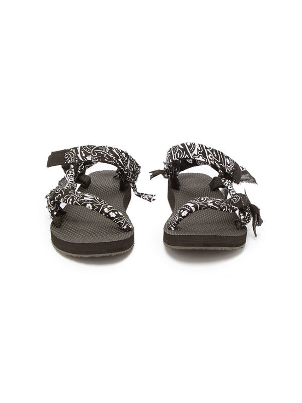 Trekky Bandana Sandals in Black