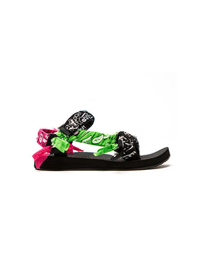 Trekky Bandana Sandals in Mix Black