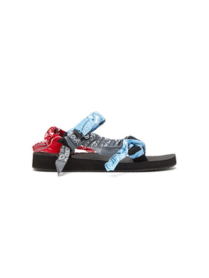 Trekky Bandana Sandals in Mix Blue