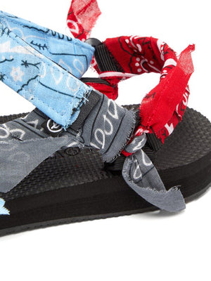 Arizona Love Trekky Bandana Sandals in Mix Blue
