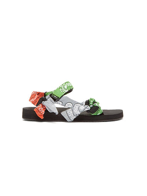 Trekky Bandana Sandals in Mix Green