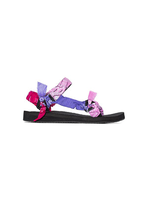 Trekky Bandana Sandals in Mix Pink