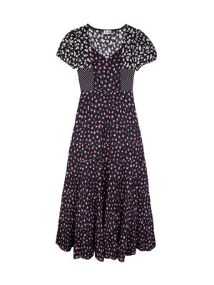 Tamara Dress in Daisy Spot Mix
