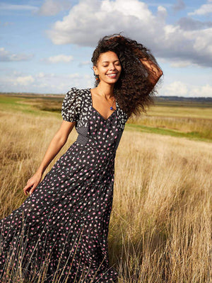 Rixo London Tamara Dress in Daisy Spot Mix