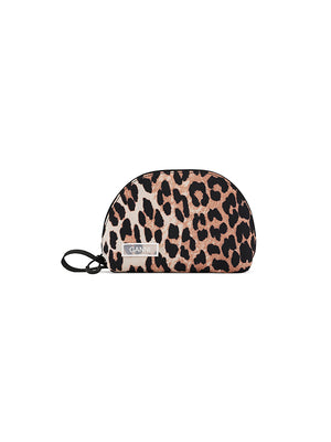 Tech Fabric Toiletry Bag In Leopard