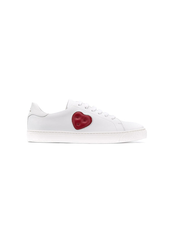 Tennis Shoe Chubby Heart in White