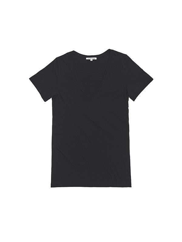 The Classic V Neck Tee in Black