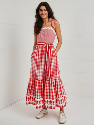 Binny Jingle Gingle Ruffle Maxi Dress