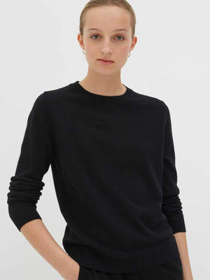 Chinti and Parker The Crew Classic Fit Sweater in Black