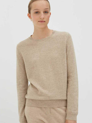 Chinti and Parker Crew Classic Fit Sweater in Oatmeal