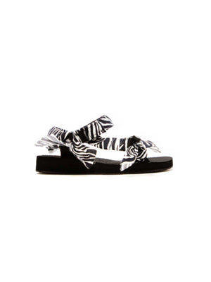 Trekky Sandals in Zebra Print