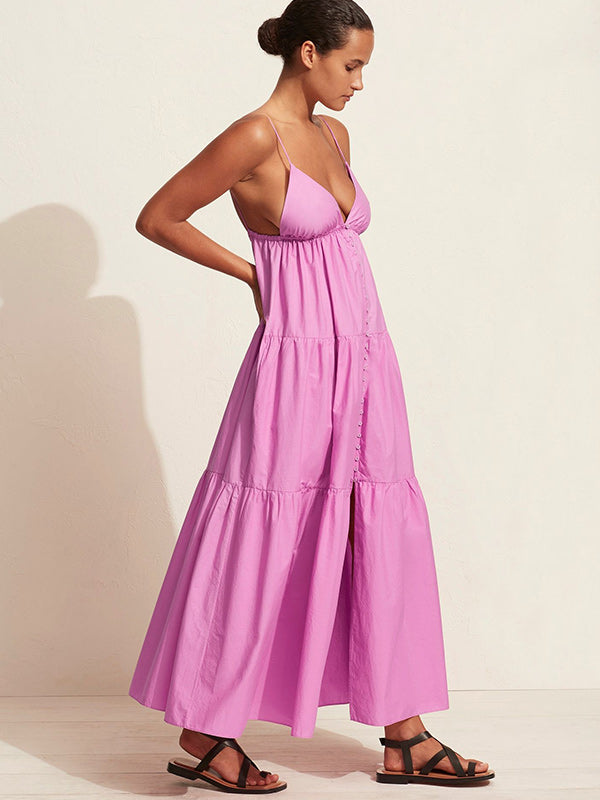 Matteau Triangle Tiered Sundress in Mauve