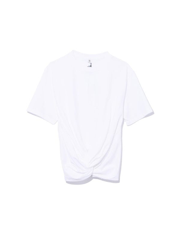 TWISTED FRONT TEE IN WHITE