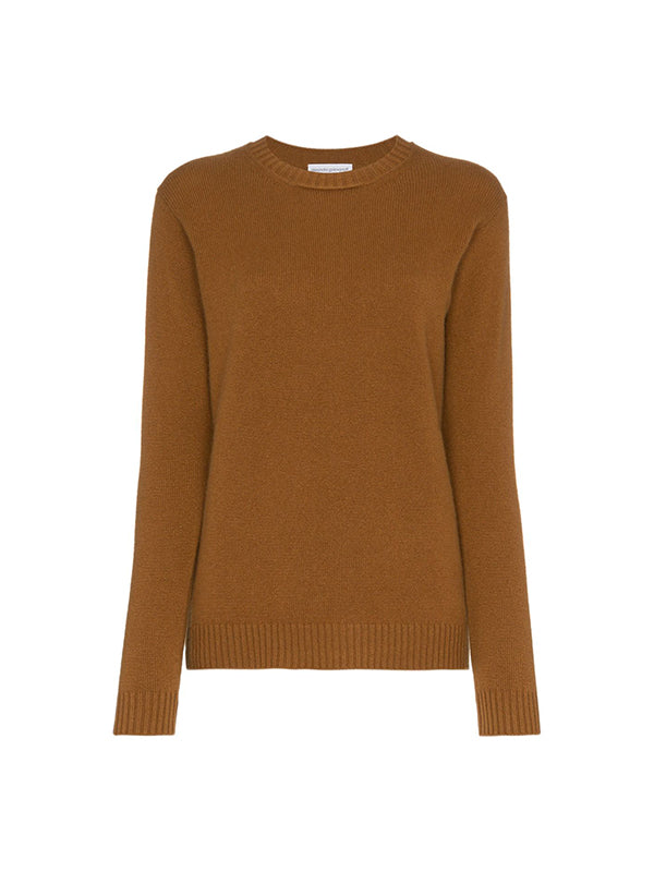 VIRGILIE CASHMERE SWEATER IN BROWN