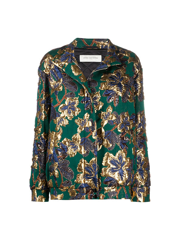 Dries Van Noten Vandi Jacket in Bottle Green