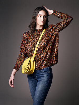 Ulla Johnson Vesna Blouse in Leopard