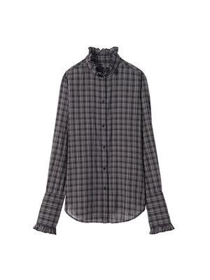 Vivian Shirt in Black Plaid