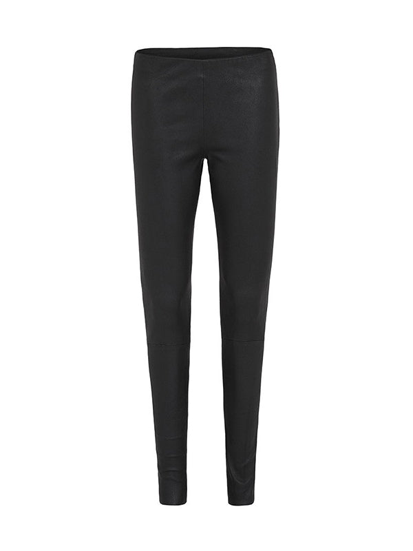 WEST BROADWAY SLEEK LEATHER LEGGINGS IN BLACK